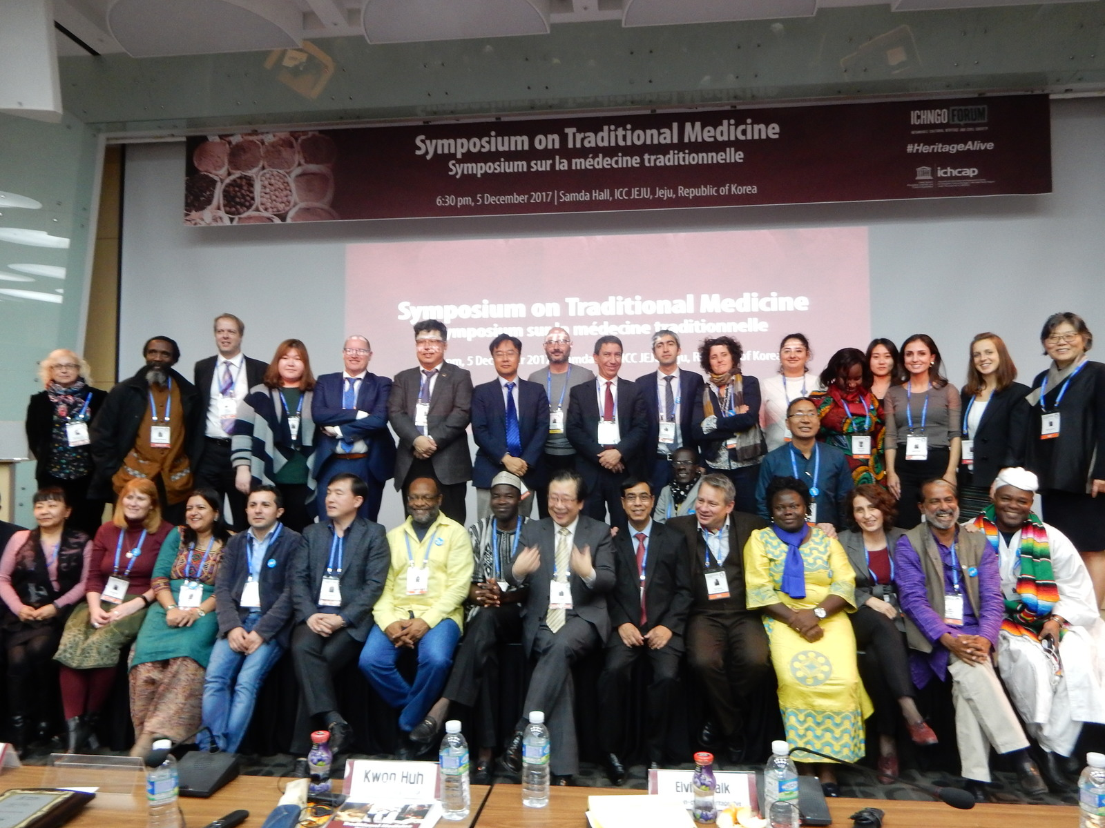 Speakers and Participants of the Symposium on Traditional Medicine