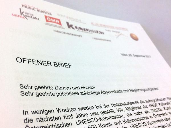 Offener Brief Der Arge Kulturelle Vielfalt österreichische Unesco