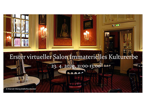 Launching Event: Erster virtueller SALON des Immateriellen Kulturerbes - Startschuss am 23. April 2020